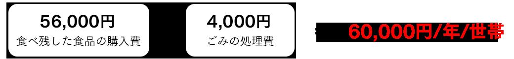 60,000円/年/世帯