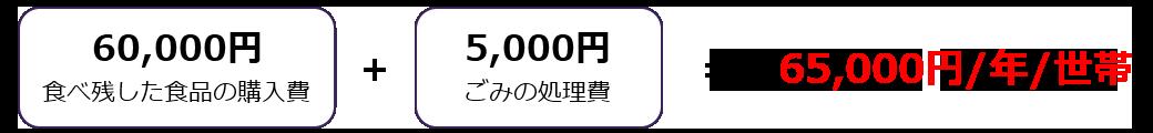 65,000円/年/世帯